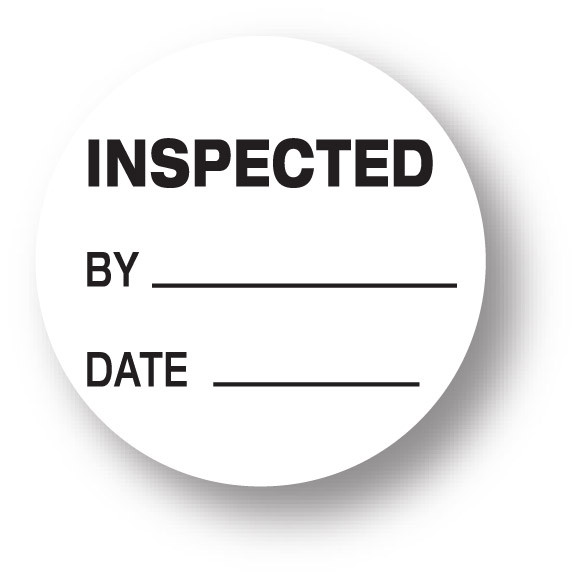 Stock Labels > Inventory Control Labels > QUALITY - Inspected/ By/ Date  (White) 1.5