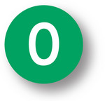 "NUMBERS - 0 (Green) 1.5"" diameter circle"