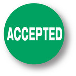 "QUALITY - Accepted (green)1.5"" diameter circle"