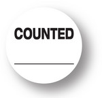 "QUALITY - Counted (White)1.5"" diameter circle"