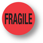 "SHIPPING- Fragile (Red)1.5"" diameter circle"