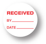 "SHIPPING - Received By/ Date (White)1.5"" diameter circle"