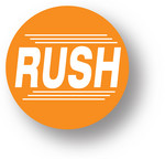 "SHIPPING - Rush (Orange)1.5"" diameter circle"