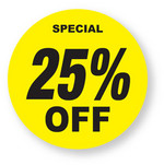 Discount - 25% Off Labels