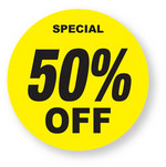 Discount - 50% Off Labels
