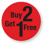 Discount - Buy 2 Get 1 Free Labels