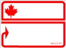 """BLANK LABEL WITH MAPLE LEAF - 4"""" X 2 15/16"""""""