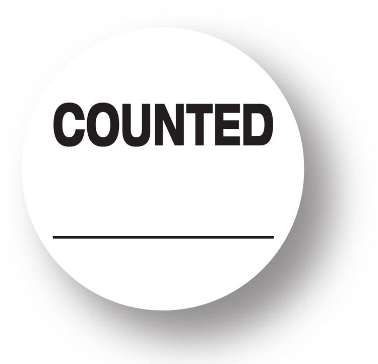 """QUALITY - Counted (White)1.5"""" diameter circle"""