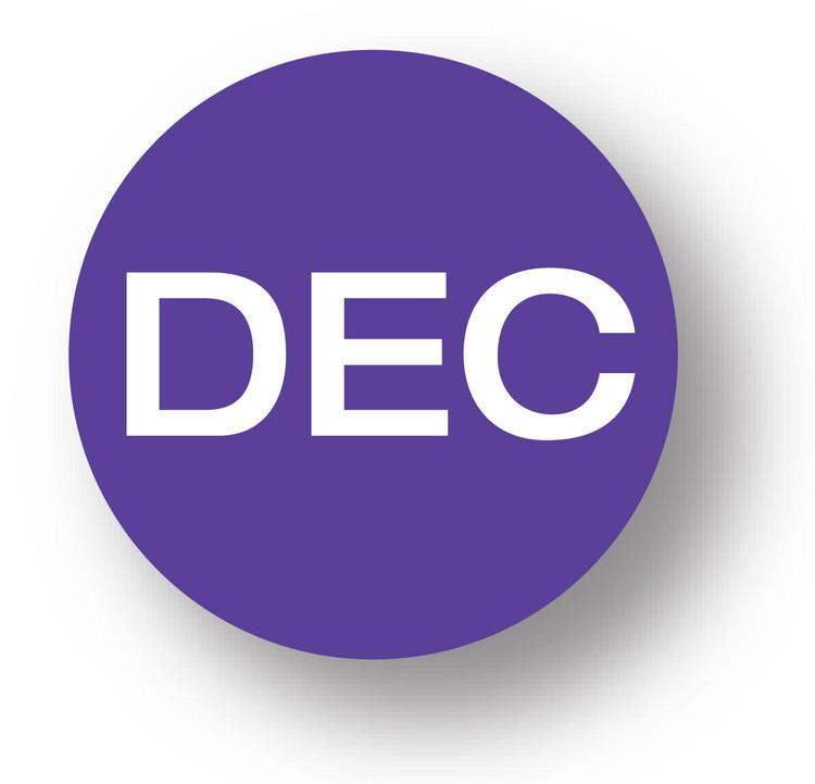 "MONTH- December (Purple)1.5"" diameter circle"