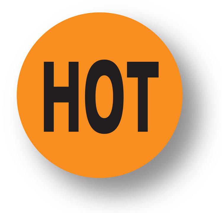 """SHIPPING- Hot (Orange)1.5"""" diameter circle"""