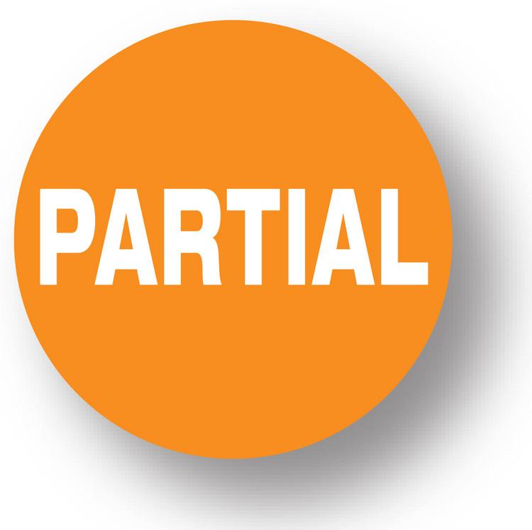 """SHIPPING - Partial (Orange)1.5"""" diameter circle"""