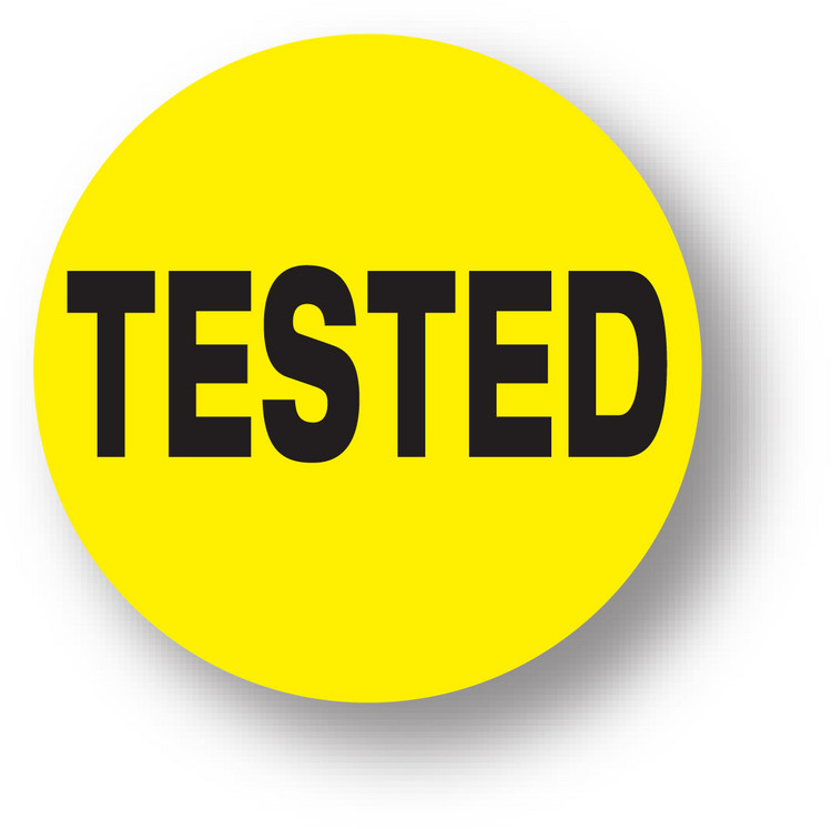 """QUALITY - Tested (Yellow) 1.5"""" diameter circle"""