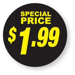 Special Pricing - $1.99 labels