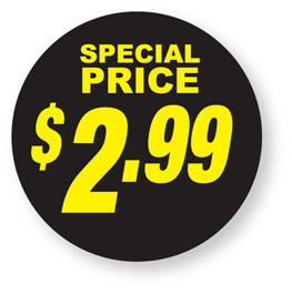 Special Pricing - $2.99 labels