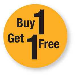 Discount - Buy 1 Get 1 Free Labels