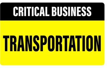 CRITICAL BUSINESS - TRANSPORTATION