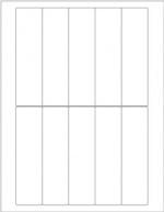 "PolyFlex® Laser Labels - 1.38"" x 5.13"""