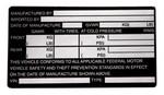 RI MPV & Truck Under 6000 lbs. labels