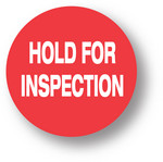 "QUALITY - Hold for inspection (Red) 1.5"" diameter circle"