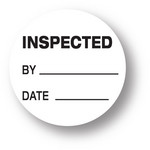 "QUALITY - Inspected/ By/ Date (White) 1.5"" diameter circle"