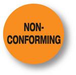 """QUALITY - Non-Conforming (Orange) 1.5"""" diameter circle"""