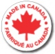 "MADE IN CANADA - 1"" Die Cut Circle - Red on White"