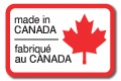 "MADE IN CANADA - 1.125"" x 1.5"" Die Cut - Black and Red on White"